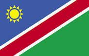 Namibia flag for namibia visa