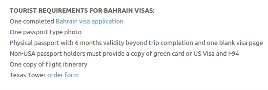 Bahrain Visa - Texas Tower Fast Passport and Visa Call Now! (713) 874-1420.clipular