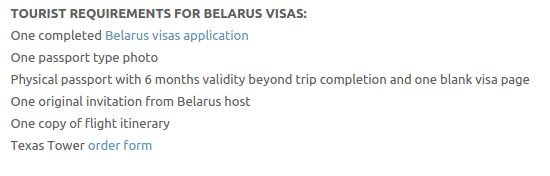 Belarus Visas - Texas Tower Fast Passport and Visa Call Now! (713) 874-1420.clipular