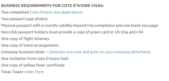 Ivory Coast Visa - Texas Tower Fast Passport and Visa Call Now! (713) 874-1420.clipular (1)