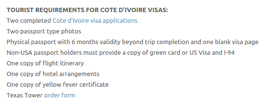Ivory Coast Visa - Texas Tower Fast Passport and Visa Call Now! (713) 874-1420.clipular
