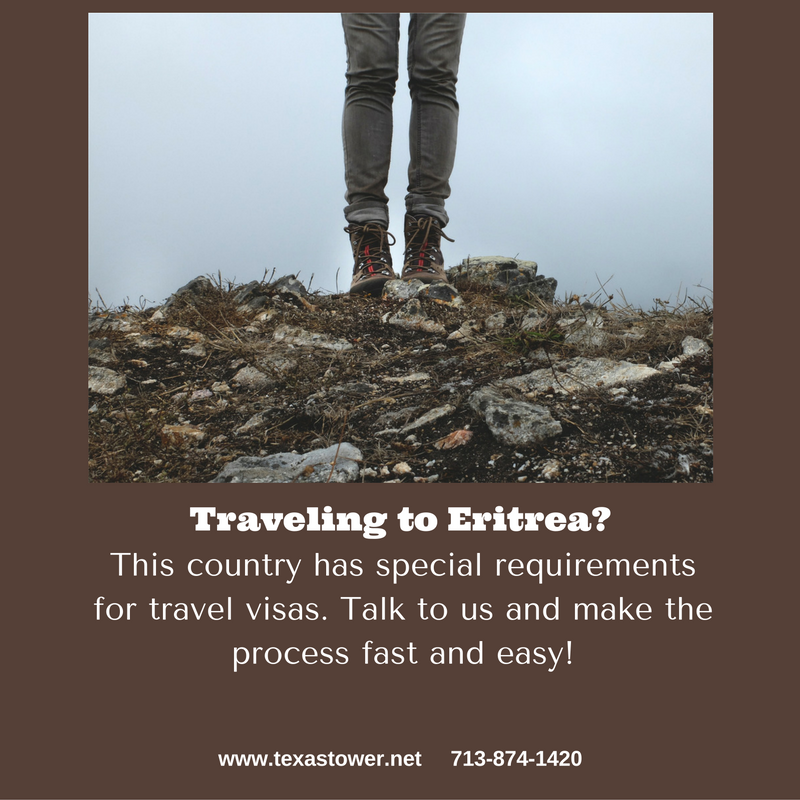 passport and travel visa to Eritrea