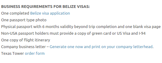 Belize Visas - Texas Tower Fast Passport and Visa Call Now! (713) 874-1420.clipular