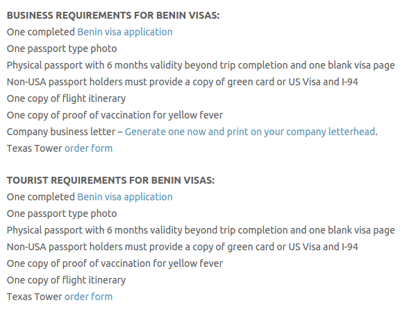 Benin Visas - Texas Tower Fast Passport and Visa Call Now! (713) 874-1420.clipular