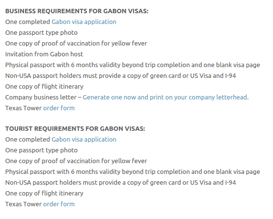 Gabon Visa - Texas Tower Fast Passport and Visa Call Now! (713) 874-1420.clipular