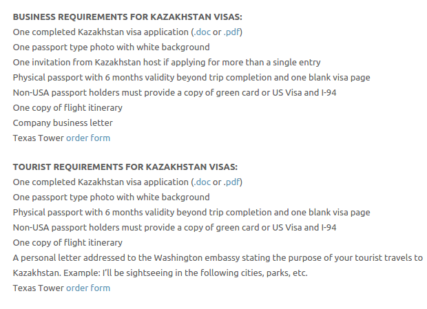 Kazakhstan Visa - Texas Tower Fast Passport and Visa Call Now! (713) 874-1420.clipular