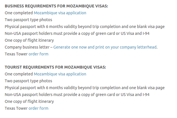 Mozambique Visa - Texas Tower Fast Passport and Visa Call Now! (713) 874-1420.clipular