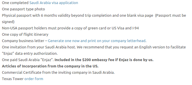 Saudi Arabia Visa - Texas Tower Fast Passport and Visa Call Now! (713) 874-1420.clipular