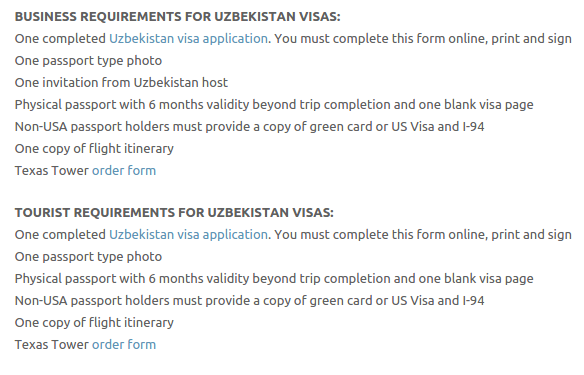 Uzbekistan Visa - Texas Tower Fast Passport and Visa Call Now! (713) 874-1420.clipular