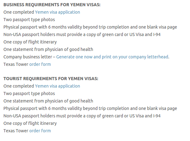 Yemen Visa - Texas Tower Fast Passport and Visa Call Now! (713) 874-1420.clipular