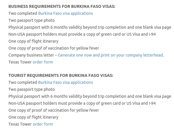 Burkina Faso Visa - Texas Tower Fast Passport and Visa Call Now! (713) 874-1420.clipular