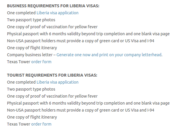 Liberia Visa - Texas Tower Fast Passport and Visa Call Now! (713) 874-1420.clipular