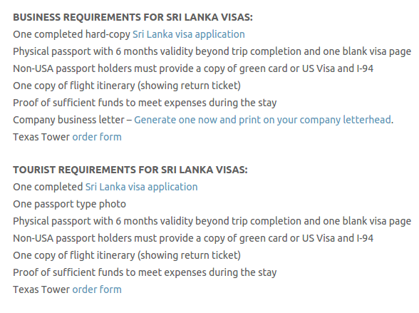 Sri Lanka Visa - Texas Tower Fast Passport and Visa Call Now! (713) 874-1420.clipular